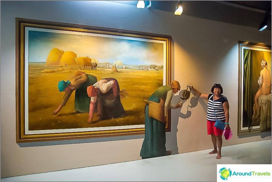 3D-galleria Pattayassa - selfie-vetovoima lapsille ja aikuisille