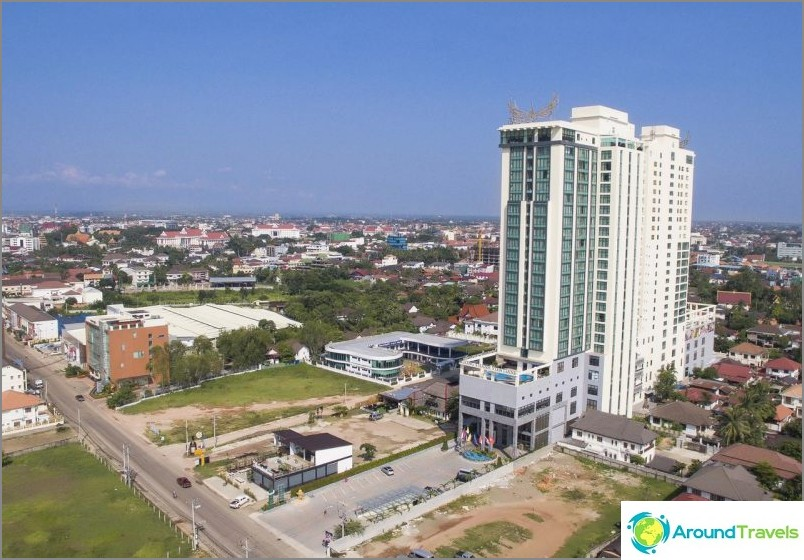 Mukava hotelli lähellä Thaimaan konsulaattia Vientianessa