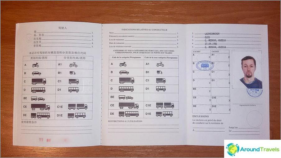 Miltä näyttää kansainvälinen ajokortti?