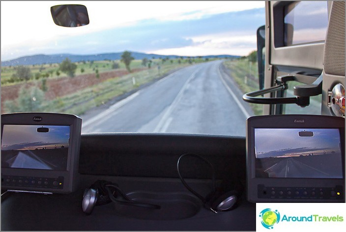 Mukavat bussit Turkissa.