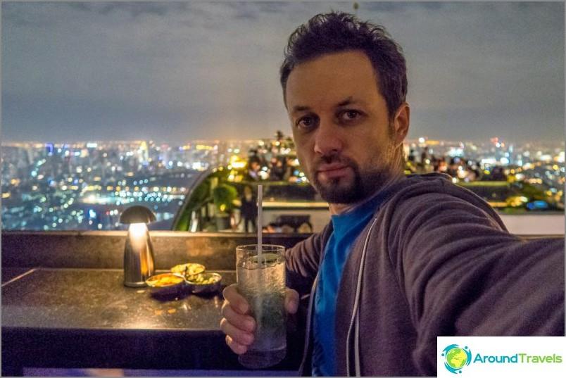 Tilasin mojiton ja nauti Bangkokin näkymistä