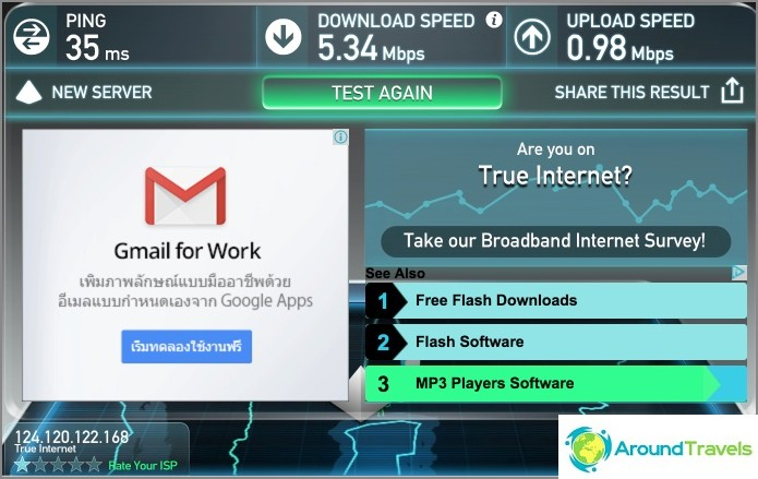 Wifi-nopeus aulassa