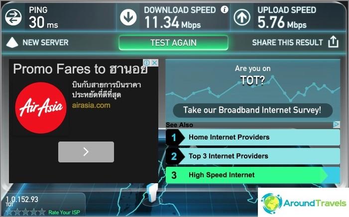 Internetin nopeus