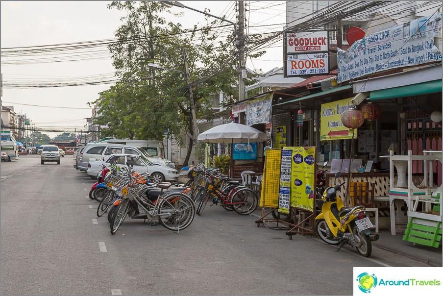 Huoneiden ja polkupyörien vuokraus