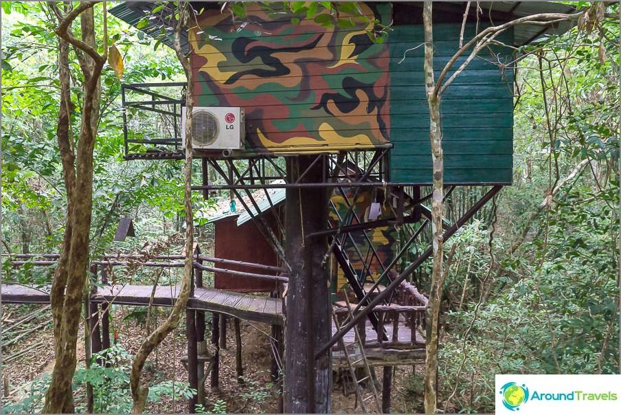 Näkymä bungalowin terassilta
