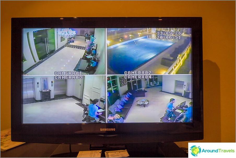 Televisiosta voit nähdä, onko uima-altaalla ketään
