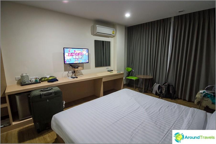 Pieni mutta mukava huone
