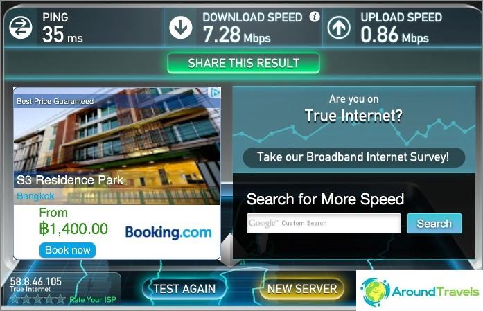 Internet-nopeus S3 Residence Parkissa
