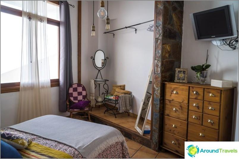 Vintage-asunto Teneriffan pohjoispuolella merinäköalalla