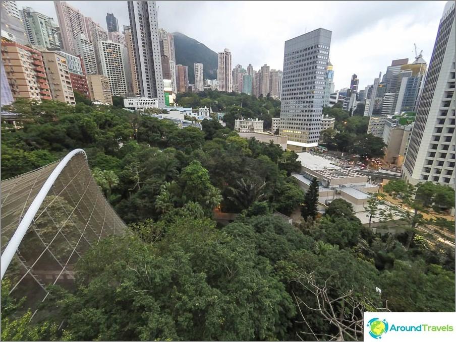 Гледка от гледката в парк Хонг Конг