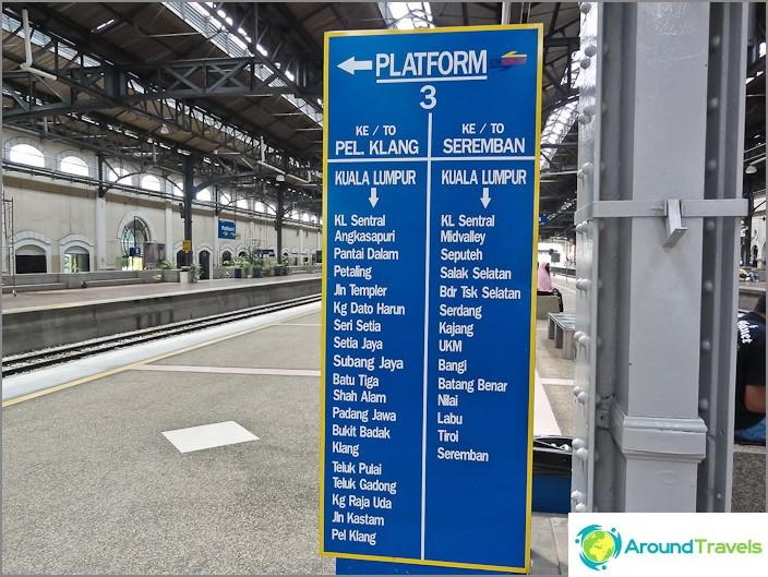 Индикатор за влак на гара KTM Komuter