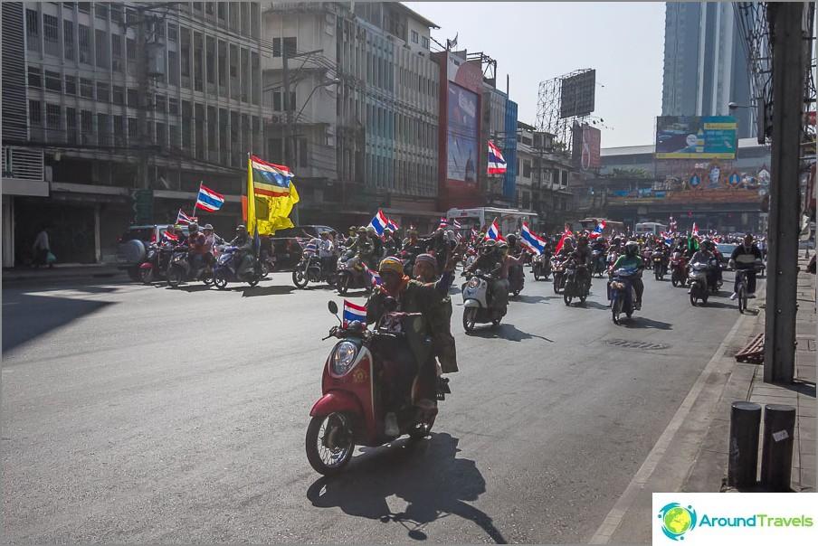 Questo non è un raduno di motociclisti, questo è il movimento dei manifestanti