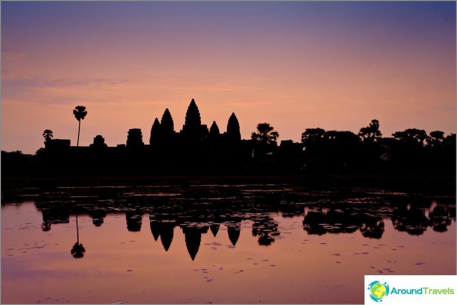 Dawn, Angkor Wat Kambodžassa