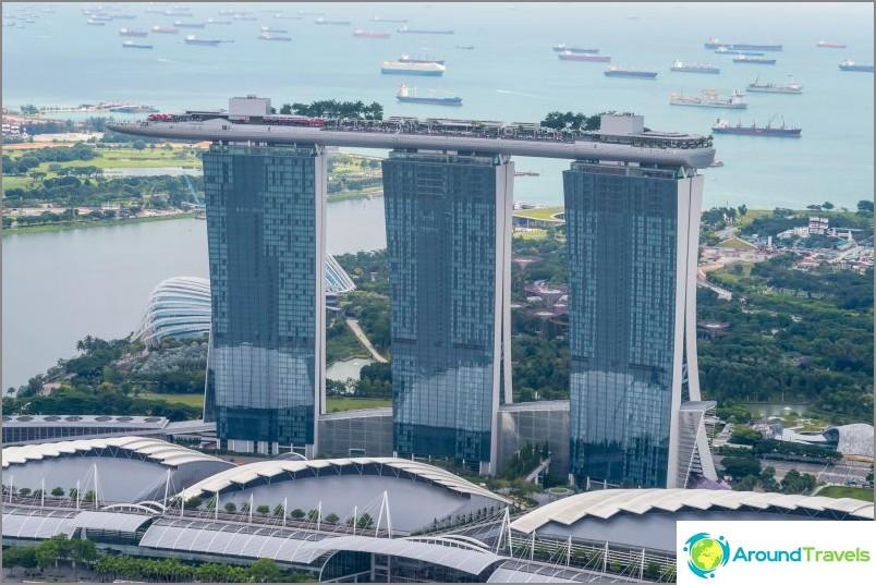 Näkymä Marina Bay Sands -hotelliin