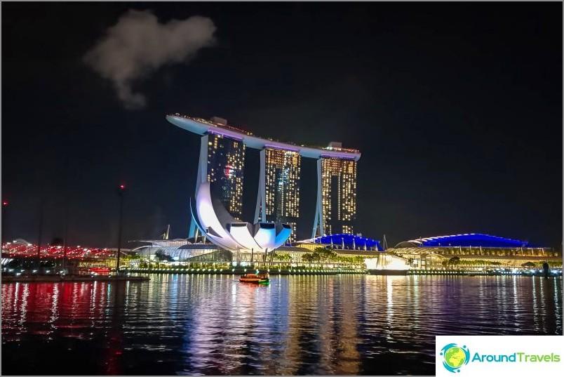 Singaporen Marina Bay Sands -havaintokenttä - tunnetuin