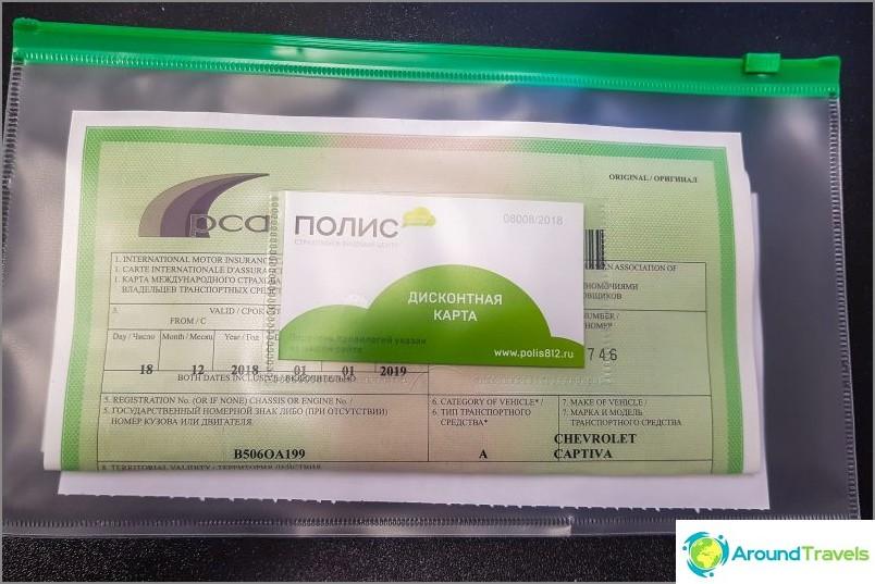 Vakuutukseni Green Card ostettu verkosta