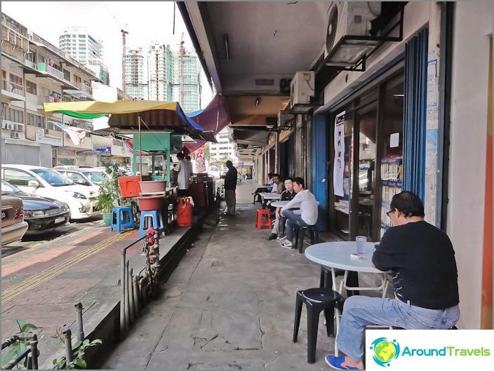 مقهى في شوارع كوالالمبور
