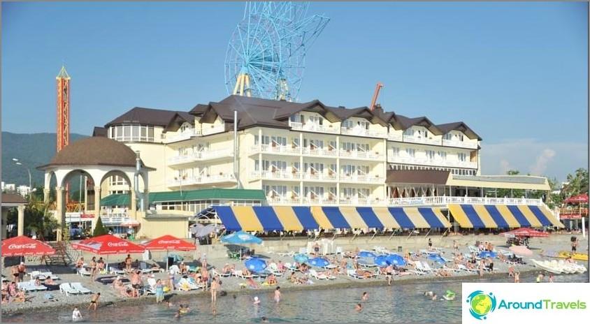 Lazarevsky hotellit meren rannalla - luettelo edullisista ja parhaiten arvioiduista