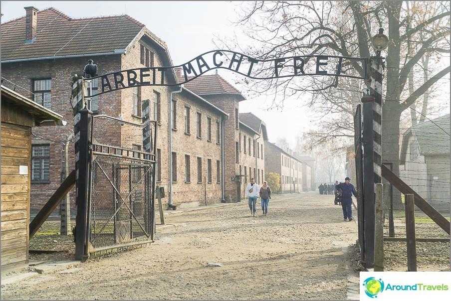 Auschwitz I -keskittymisleiri - merkintä Labour vapauttaa