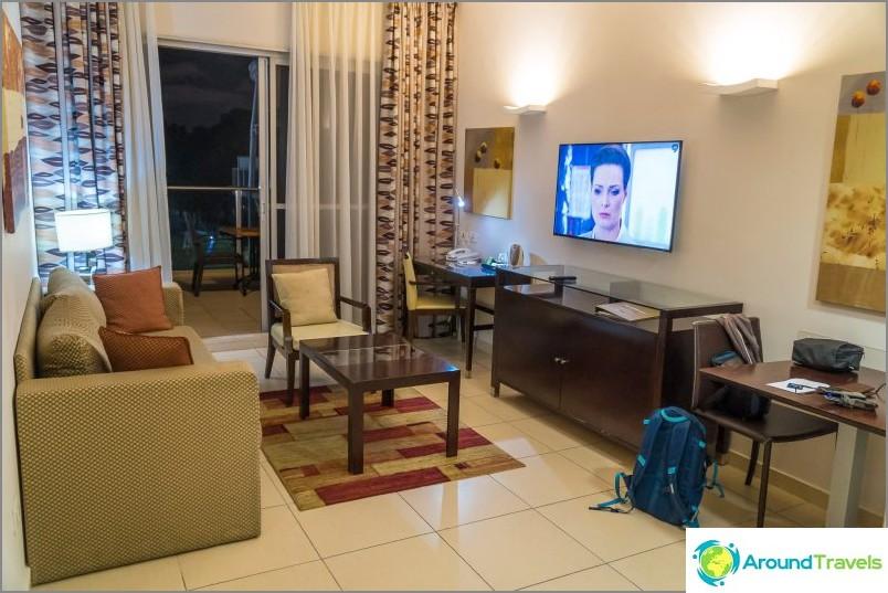 Sviitti Kfar Maccabiah -hotellissa