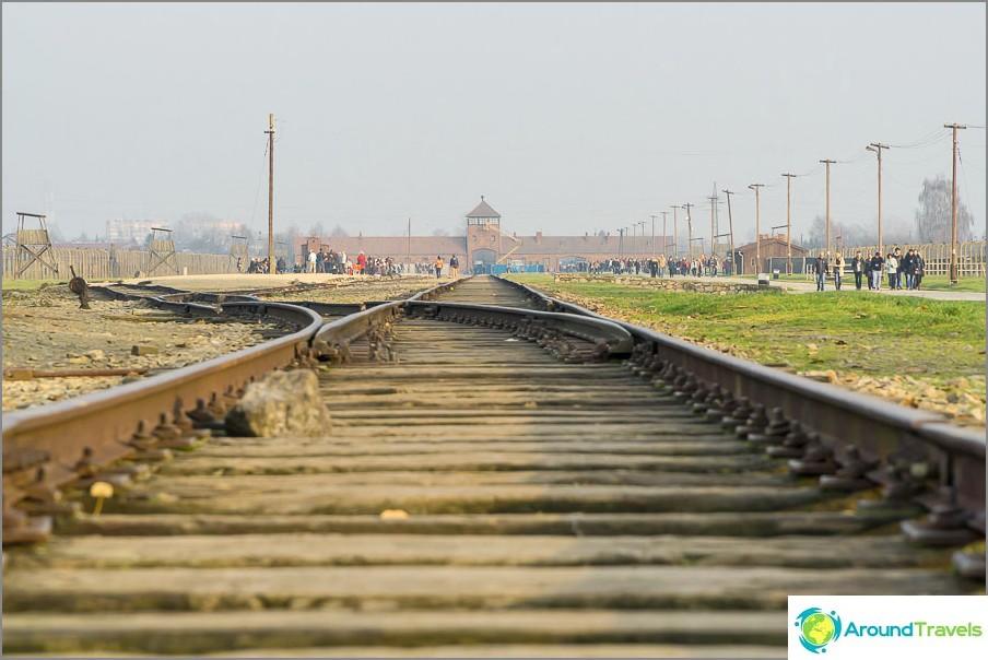 Kuoleman rautatieportti sisältäpäin