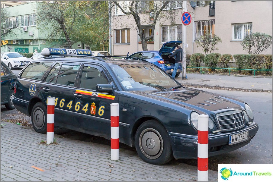 Grosik-taksi Varsovassa