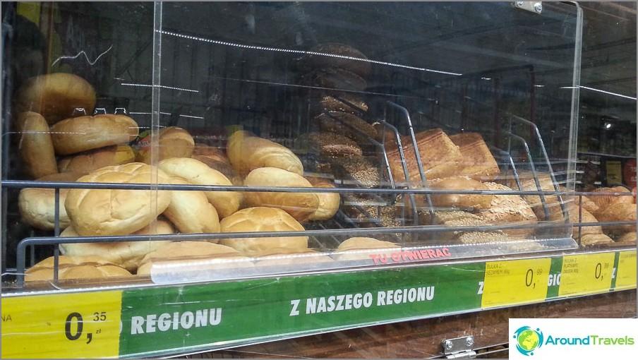 Myös tavallinen leipä ja halvat pullat