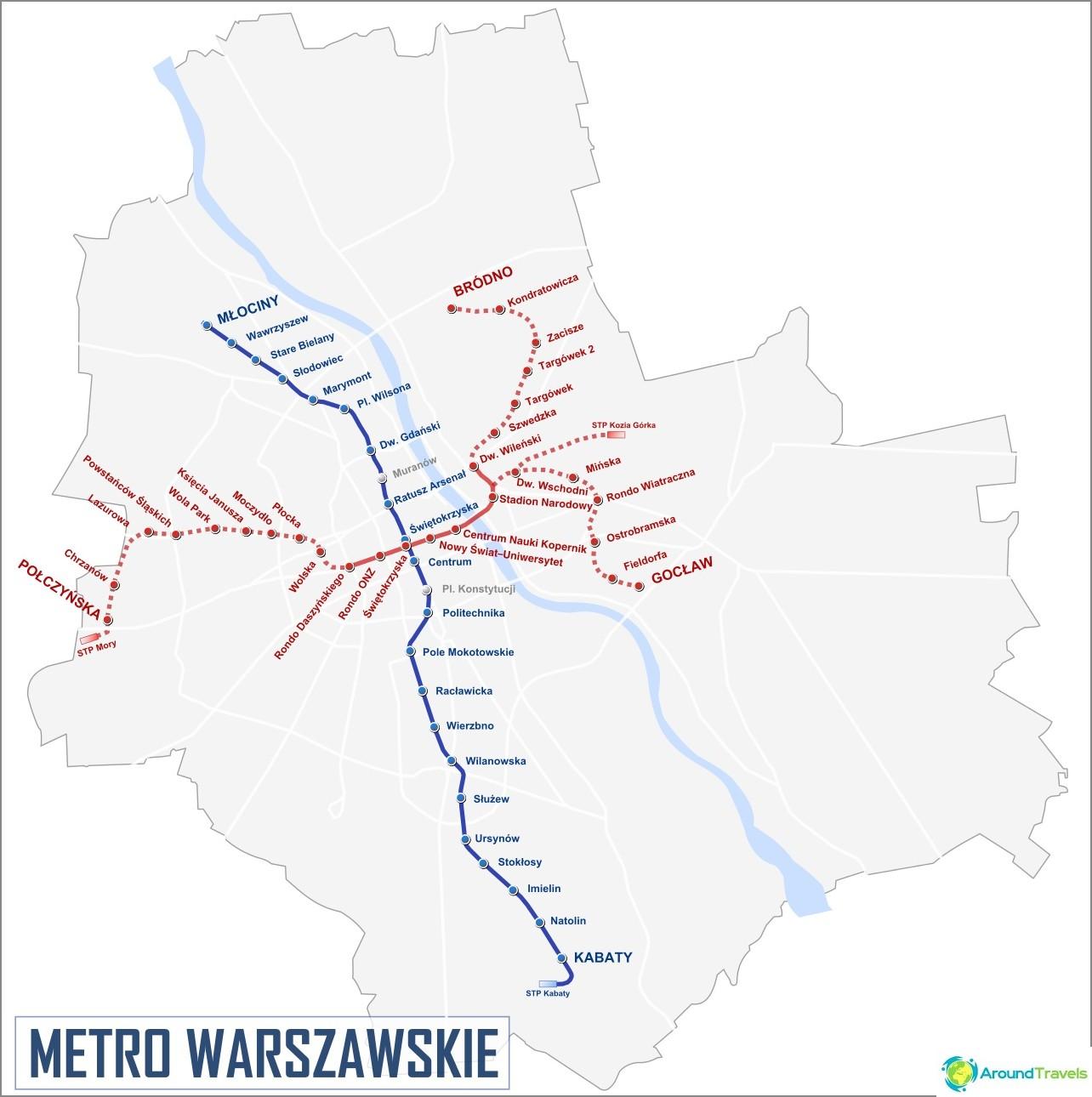 Varsovan metrokartta