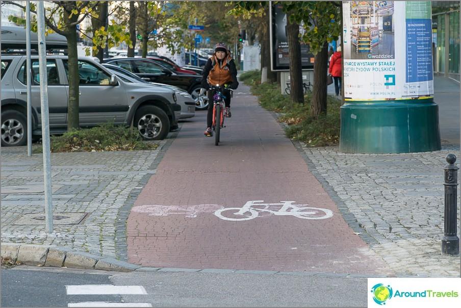 Polkupyörätiet Varsovassa