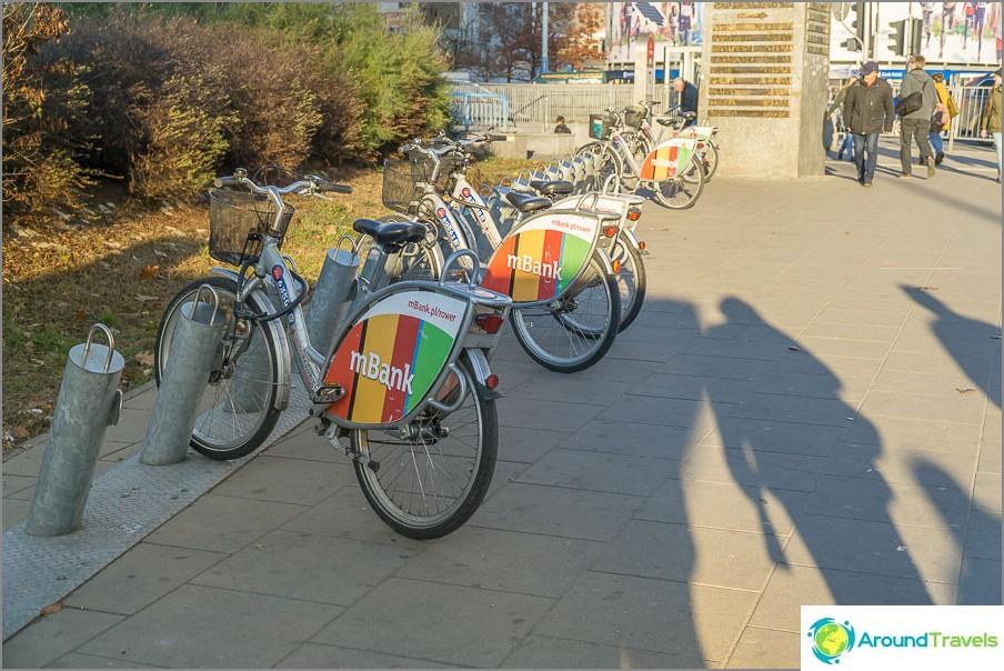 Polkupyörän vuokraus Varsovassa