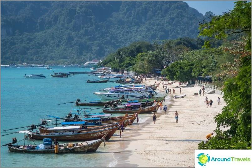 Ton Sai Beachin vasen puoli
