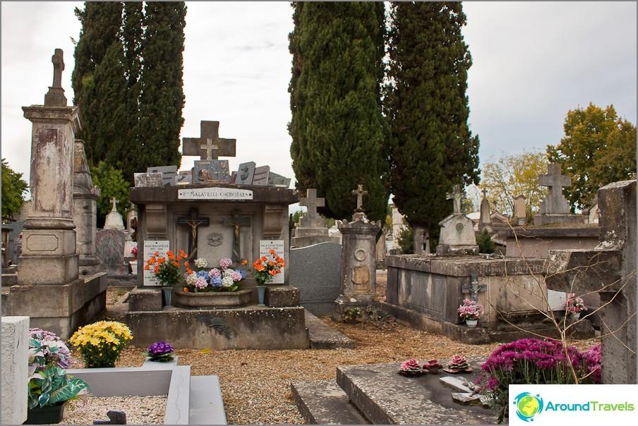 Katolinen hautausmaa on hyvin erilainen kuin meidän