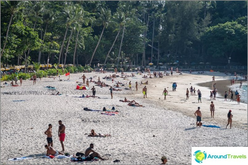 Приливът е в разгара си, ширината на плажа е впечатляваща