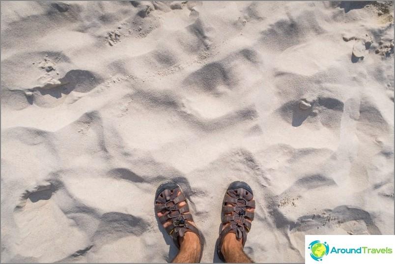 Пясъкът е перфектен, мек, бял, всичко според Фън Шуй