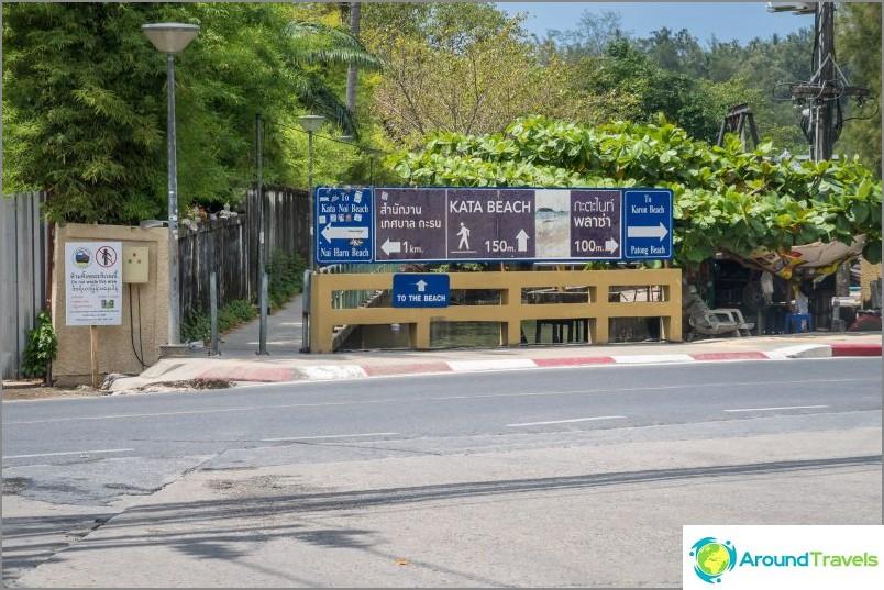 Tätä näyttää polku Kata Beachiltä