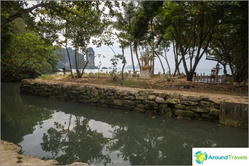 Joki on melko syvä ja leveä jopa kuivana vuodenaikana, ja vedessä on paljon makaa kaikkialta Ao Nangista