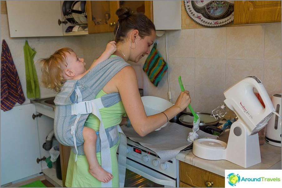 Kotitöiden tekeminen yhdessä on hauskempaa :)