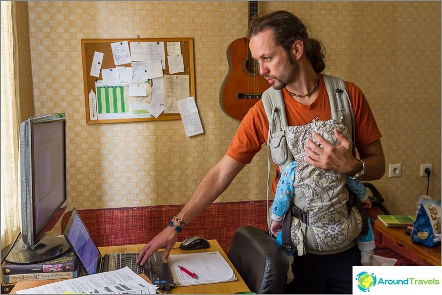 Isä Oleg pystyi jatkamaan työtään Egorin kanssa