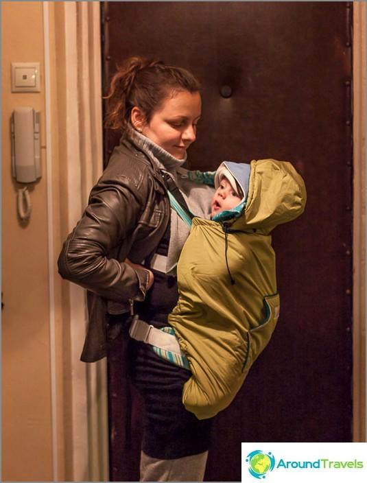 Sade, tuuli ja kylmä eivät ole kauheita vauvan rinnassa.