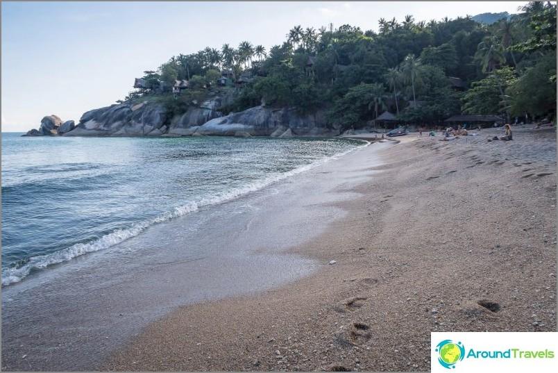 Десен изглед от центъра на плажа