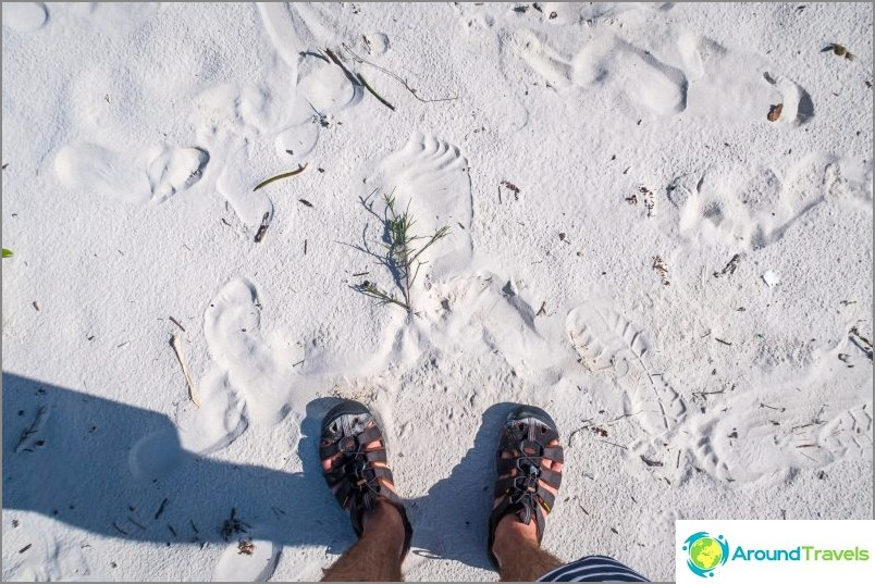 Ja tämä on hiekkalippujen talo. Kaunis, mutta ei ole mahdollista valehdella pitkään - ne tukostuvat