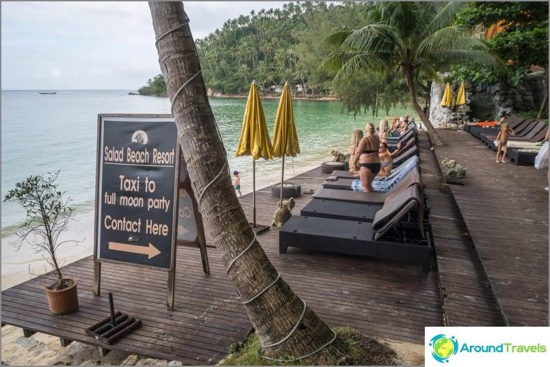 Haad Salad Beach - etsiessään hiljaisuutta Phanganin rannoilla