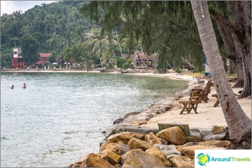 Kannettava ranta on varustettu lomakohteen vieraille