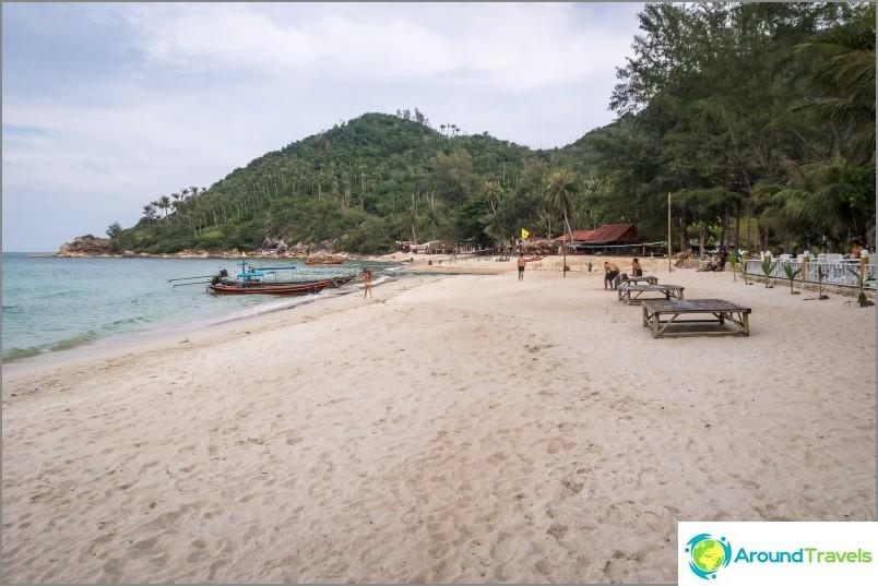 Изглед вдясно от центъра на плажа