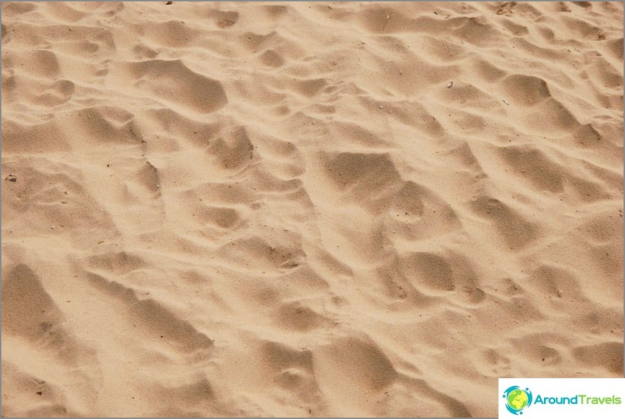 Sabbia sulla spiaggia