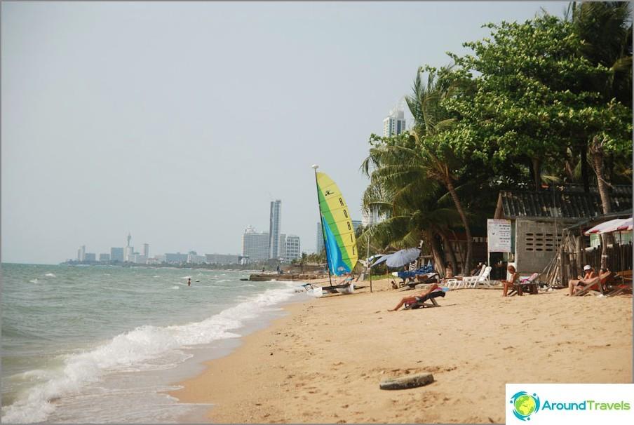 Parte nord della spiaggia