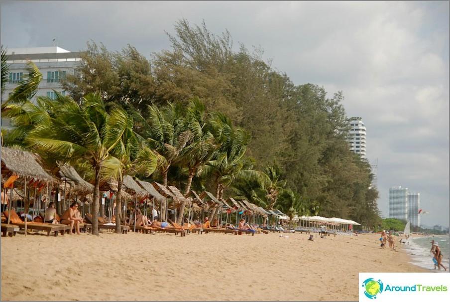 Vista della spiaggia, verso l'Ambasciatore