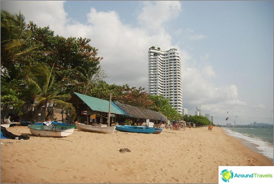 Parte sud della spiaggia