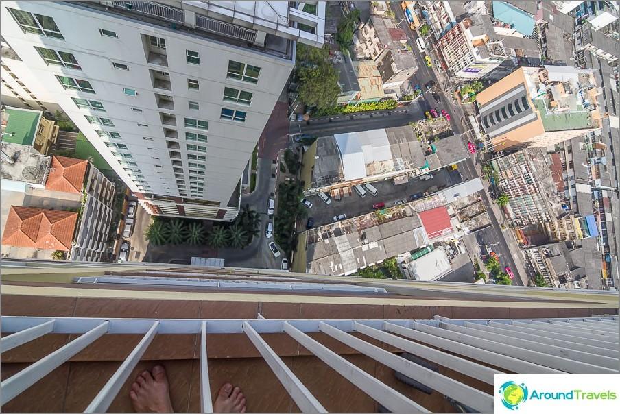 Изглед от 29-ия етаж, нашия апартамент в Банкок