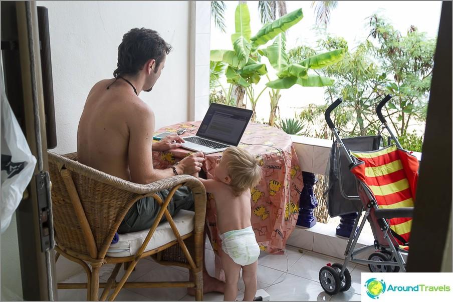 Работете по Koh Samui край морето